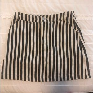 Black and white stripe skirt